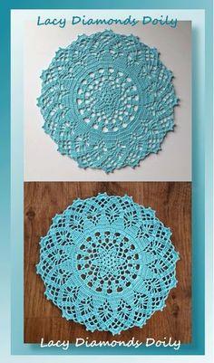 42 quick easy crochet doily pattern crochet doily patterns easy lacy diamonds doily free crochet pattern via beckastreasures designed by crochetmemories dt1010fo