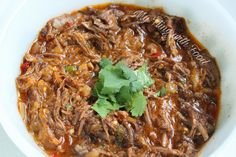 """Crockpot Mexican Shredded Beef - (S) """"The beef is incredibly soft and tender. You get a hint of lime juice and a little smoky, spicy kick from the spices and peppers. All in all, it's the perfect, casual way to enjoy a roast."""" - Erin"""