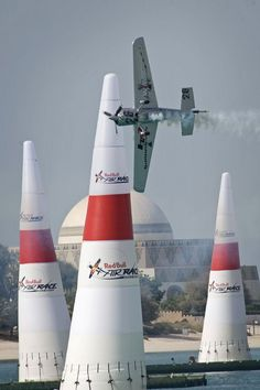 Red Bull Air Race World SeriesAustrian pilot Hannes Arch performs during the finals of the Red Bull Air Race World Series on April 2008 in Abu Dhabi, UAE. Aviation Image, Civil Aviation, Stunt Plane, Event Logistics, Red Bull Racing, Air Show, Helicopters, Military Aircraft, Stunts