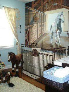 Awwww...equestrian baby's room!