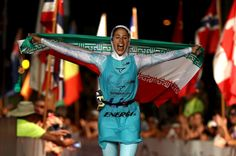 Shirin Gerami wanted to represent her homeland, Iran, as a triathlete. But to do so, authorities said she'd have to cover up.