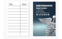 Cartes De RDV Simples N9 Kine Rdv Carte Visite