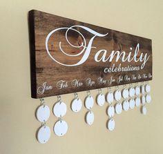 Handmade Family Birthday Board Family von InfiniteDesigns4u
