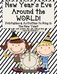 New Year's Eve #NYE Around the World Printables!
