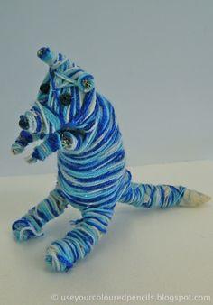Use Your Coloured Pencils: Aboriginal Inspired Fibre Sculptures