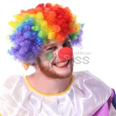 Halloween Clown Accessories Clown Wigs Color Explosion Head, children can buy it to your father.