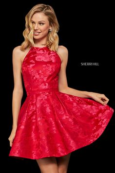 Sherri Hill 52967 Red, Pink Holiday Dresses