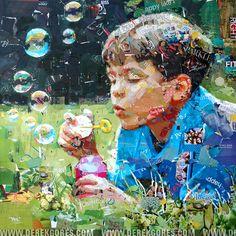 Derek Gores Collage Portrait