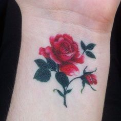 Wrist Rose Tattoo