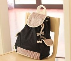 Girl's Leisure Canvas Backpack for Student