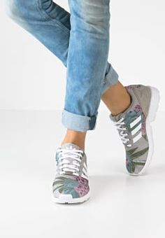 adidas Originals - ZX FLUX - Baskets basses - solid grey/white/lush pink