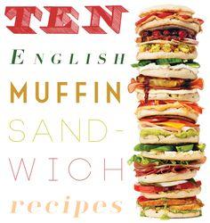 10 English Muffin Sandwich #Recipes