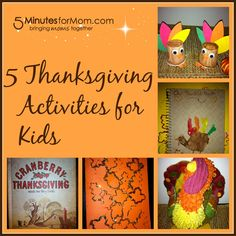 Thanksgiving Activities for Kids - Crafts for Children