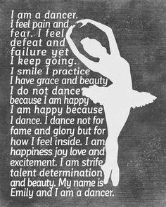 DANCER Gifts Personalized Dance Artwork Printed or Printable Dancer Wall Art Dance Teacher Gifts Dance Team Gifts Dance Gifts Ballet Art For Business Dance Team Gifts, Dance Teacher Gifts, Dancer Quotes, Ballet Quotes, Modern Dance, Les Memes, Dance Motivation, Ropa Hip Hop, Dance Memes
