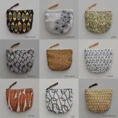 Gold rain, anemone and crystals Pouch Bag, Pouches, Linen Bag, Fabric Bags, Little Bag, Knitted Bags, Zipper Bags, Handmade Bags, Small Bags
