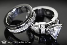 trillion cut wedding rings | Think Outside the Jewelry Box: Six Unique Engagement Rings