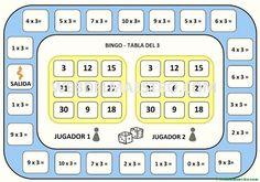 Juegos de matemáticas para imprimir - Web del maestro Teaching Activities, Teaching Math, Fun Learning, Math Magic, Speech Language Therapy, 2nd Grade Math, Math Classroom, Math Games, Bingo