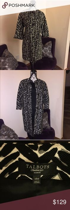 ⚜TALBOTS⚜SHADES OF GRAY PLAZA COAT Talbots updated classic. Light weight coat, With 3/4 sleeves, fully lined. 3 button styling. Worn once. Like new condition. Price is firm. Talbots Jackets & Coats