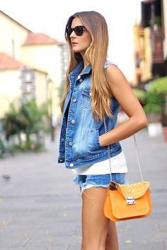 Look perfecto para una tarde soleada #shorts #denim