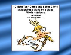 This products has 40 themed task cards that provide practice in multiplying 2 digits by 2 digits. The student worksheet and answer key are included. Directions for playing Scoot are also included.Aligned with:CCSS.Math.Content.4.NBT.B.5.The cards can be used in centers, small groups, for homework, and scoot.
