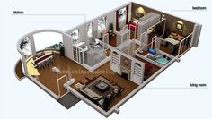 3D small homes blueprints - Google Search