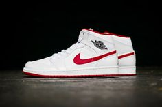 new product c95de b77cb Air Jordan 1 Mid White Gym Red