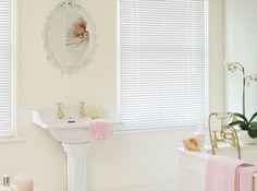 White venetian blinds