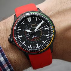 The new Sinn Spezialuhren EZM 7 S limited to 300 pieces, 43 mm,  PVD black hard coated steel, 2190 EUR.  Mega cool.