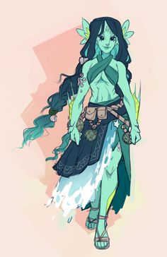 this is my new eladrin/triton oc for a waterdeep game by she's a druid with a curse and she's ocean themed! Fantasy Character Design, Character Creation, Character Design Inspiration, Character Concept, Character Art, Character Ideas, Dungeons And Dragons Characters, Dnd Characters, Fantasy Characters