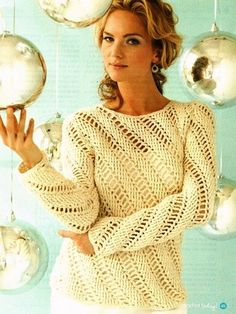 Y385 Crochet PATTERN ONLY Ladies Icicles Pullover Sweater Plus Sizes   BeadedBundles - Instructional on ArtFire