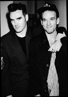 Stipe and Morrissey...before their egos collided and imploded leaving a scar upon the earth where they had converged.