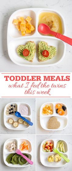 Toddler Meals: What I fed the twins this week!