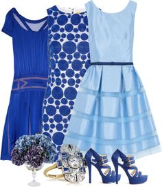 """Shades of Blue"" by lipp04 ❤ liked on Polyvore"