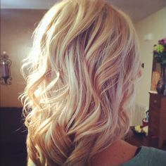 Perfect blonde hair with highlights