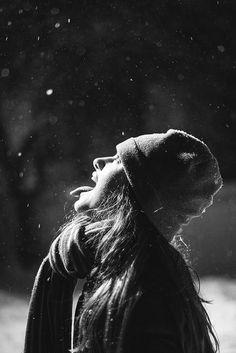 Catching snowflakes. #snow #winter