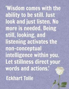 Eckhart Tolle on Wisdom