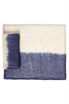 dip dyed placemat and napkin