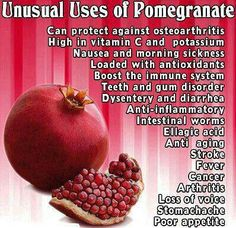 I knew i liked pomegranate for a reason, not just because I ship them! LOL Ruby Fresh are the best! Pomegranate Benefits, Fruit Benefits, Health Benefits, Pomegranate Juice, Pomegranate Recipes, Magnesium Benefits, Herbal Remedies, Health Remedies, Natural Remedies
