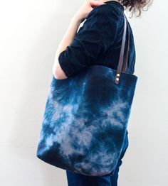 Dyed Grey & Black Market Tote | Women's Bags & Accessories | Milkhaus Design | Scoutmob Shoppe | Product Detail