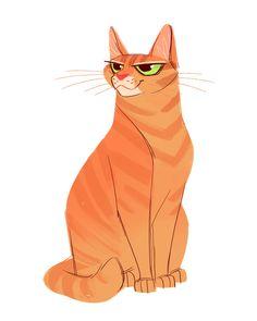 Daily Cat Drawings — 636: Orange Tabby