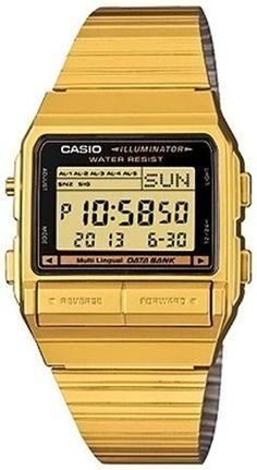 Quartz Watch Gold Digital Casio