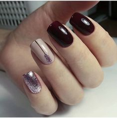 Sin nombre is part of Christmas nails Easy Toes - Christmas nails Easy Toes Shellac Nails, Toe Nails, Short Nails Art, Trendy Nail Art, Nagel Gel, Purple Nails, Gorgeous Nails, Christmas Nails, Nails Inspiration