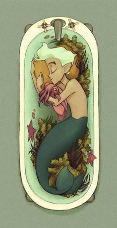 Cuddlefish - A gallery-quality illustration art print by Kristin Kemper for sale.