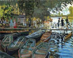 Claude Monet, Bathers at La Grenouillere, 1869