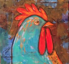 """© SUZAN BUCKNER 2008-2015 """"COCK-A-DOODLE-DOO""""  My grandmother used to have chickens, and when I went out to feed them..Zeke the big Rooster would peck me and chase me..meanest rooster in history!!"""""""
