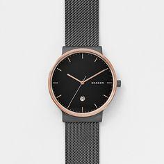 Ancher Black Steel-Mesh Watch | SKAGEN® | Free Shipping