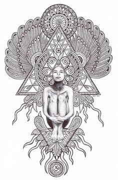 Sacred geometry by Kim Hauselberger, via Behance