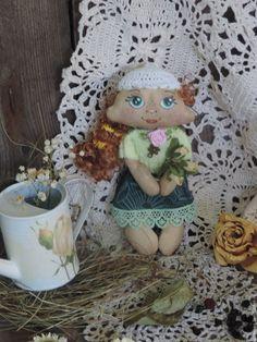 Купить Машенька текстильная ароматизированная кукла. - зеленый…