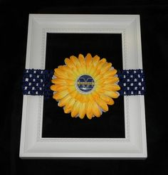 Michigan Wolverines U of M blue yellow and white by LilliBees, $7.99