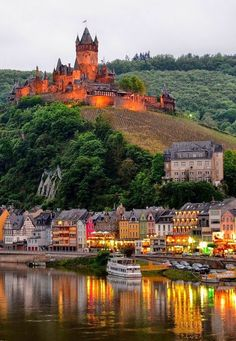 15 Most Beautiful and Best Castles To Visit in Germany for sale) 🔥 - Our World Stuff--Reichsburg Cochem, on the Moselle Beautiful Castles, Beautiful Places, Amazing Places, Places To Travel, Places To See, Places Around The World, Around The Worlds, Castles To Visit, Germany Castles